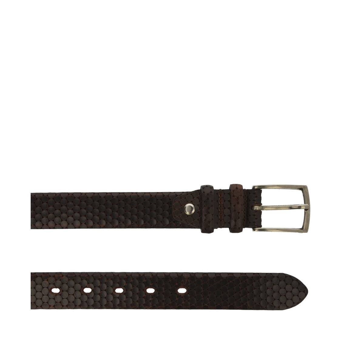 Italian Leather Brown Belts with Golden Buckle