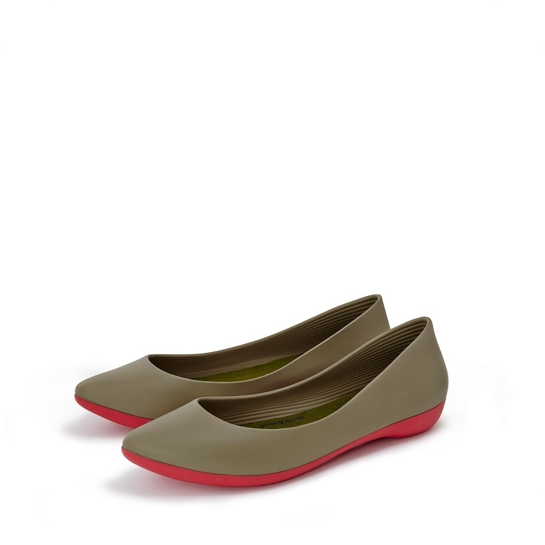 F2 Flat-Pointed Heel height 2cm Olive Green