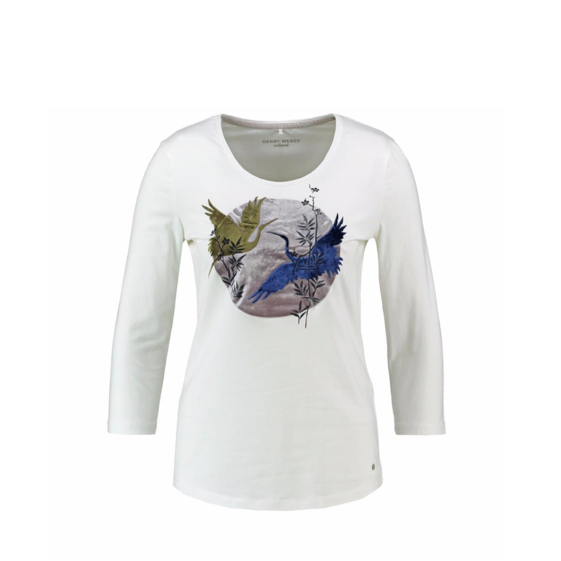 Top with Front Prints and 34 Sleeve