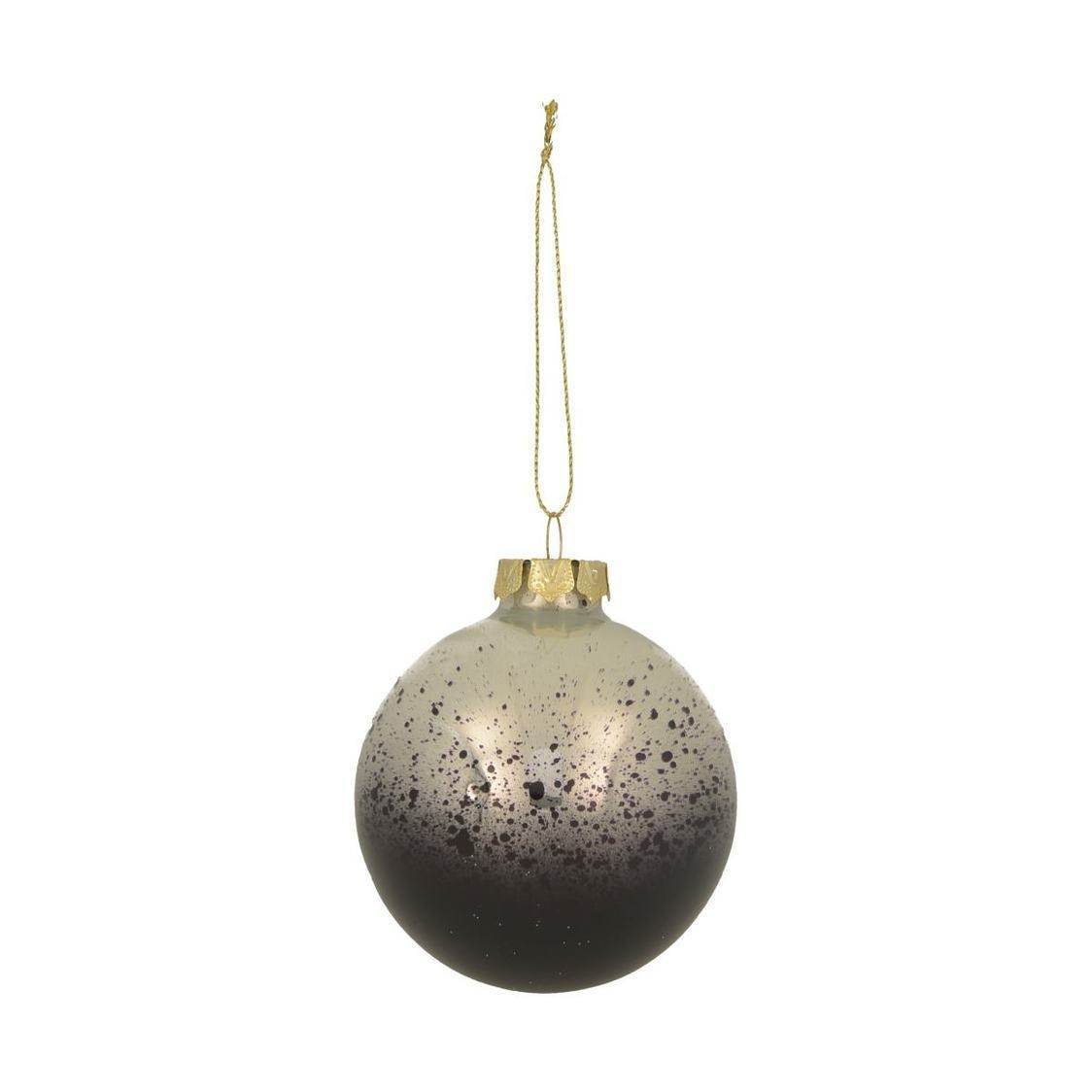 Decoration Finial White And Blue Baubles