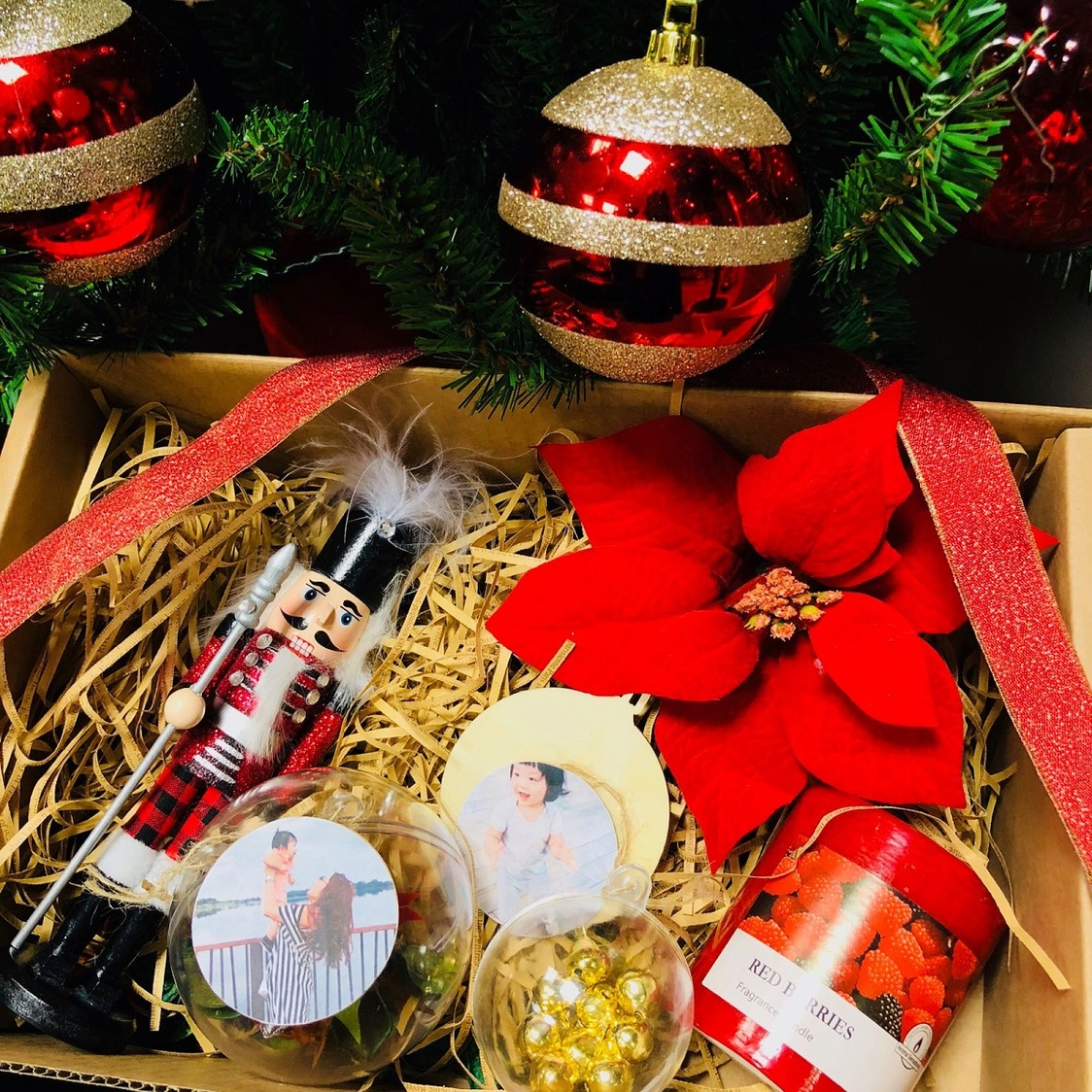 Christmas Twin Bauble Gift Box Workshop
