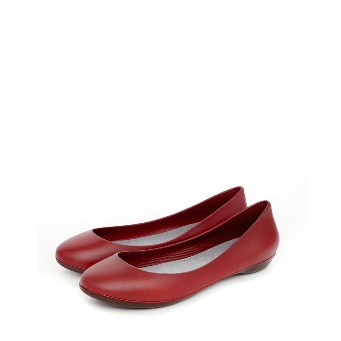 F2 Flat-Rounded Heel height 2cm Denim Red