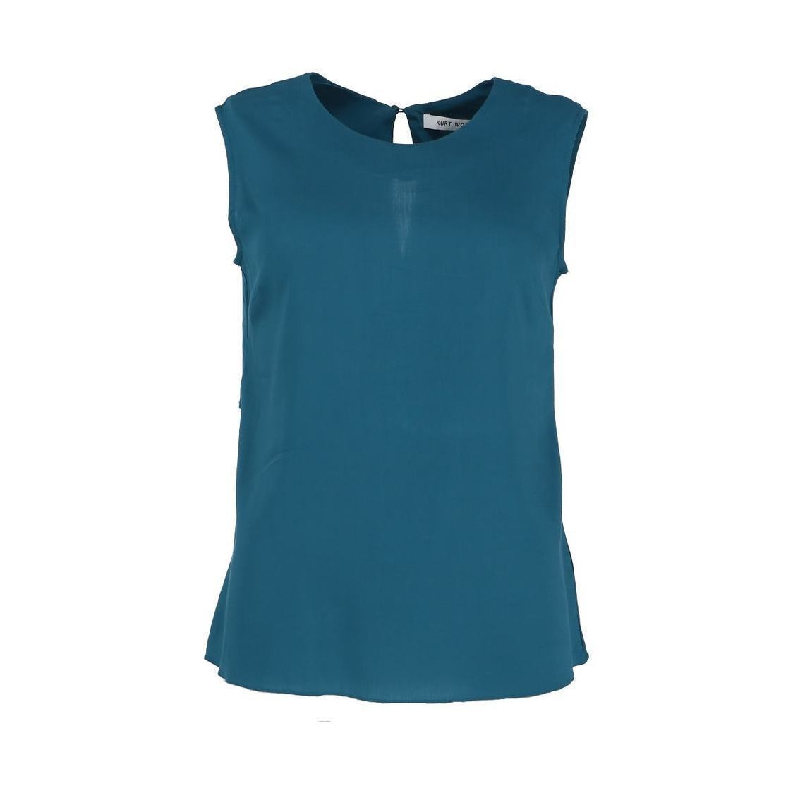 Super Soft Cowl Sleeve Top Teal