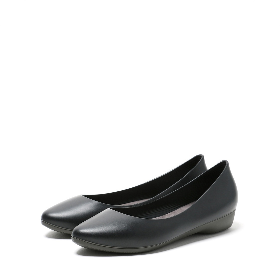 F3 Flat-Pointed Heel height 3cm Solid Black