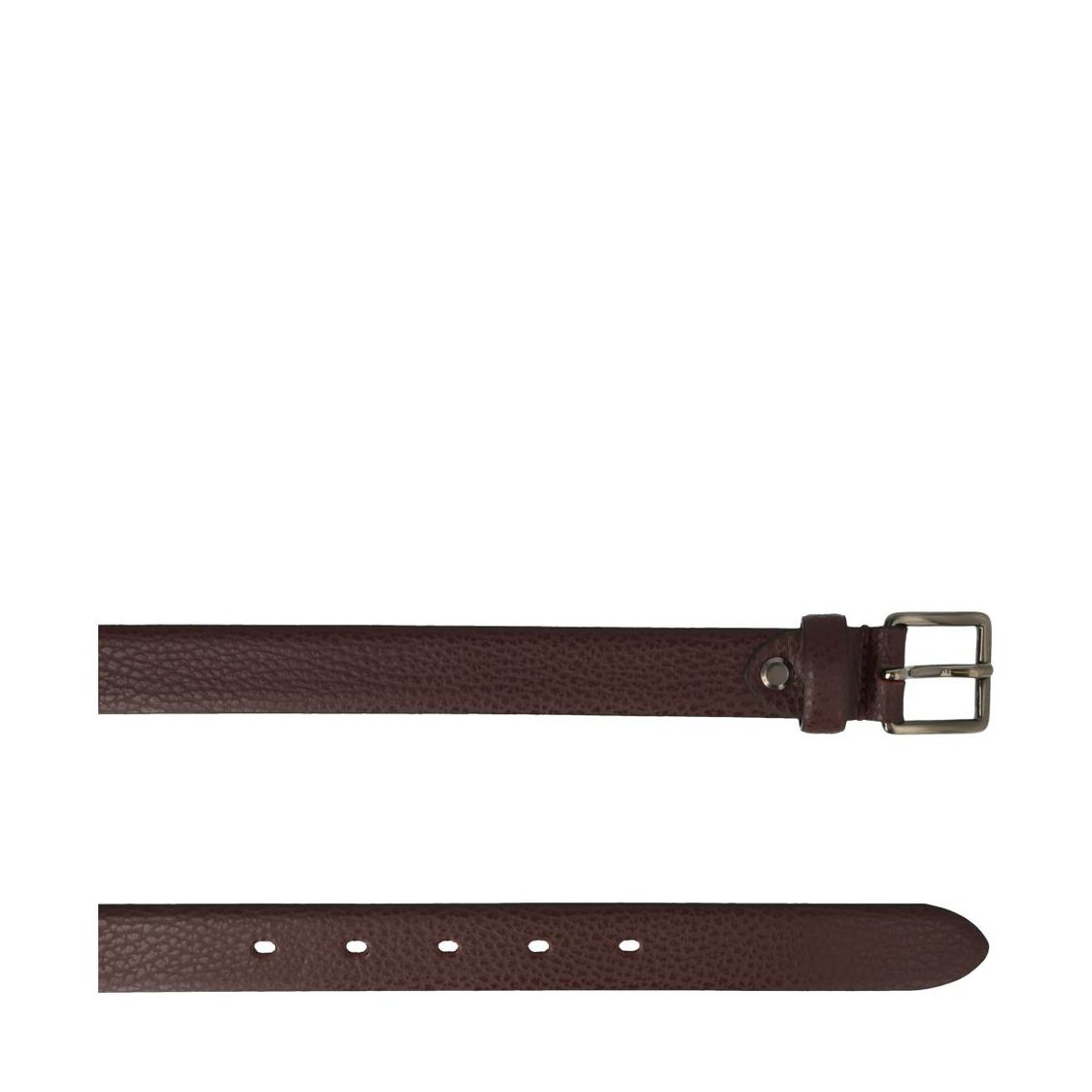 Leather Belt In Cherry Red Textured