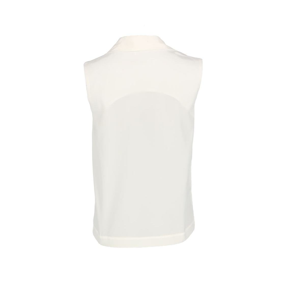 Sleeveless Top With Shawl Detail Ivory