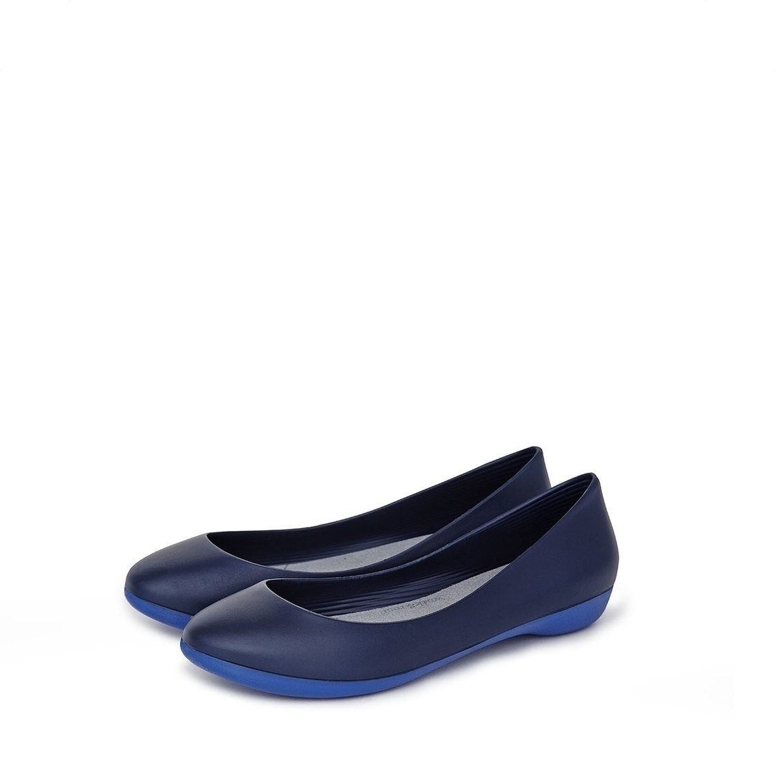 F2 Flat-Rounded Heel height 2cm Splash Blue