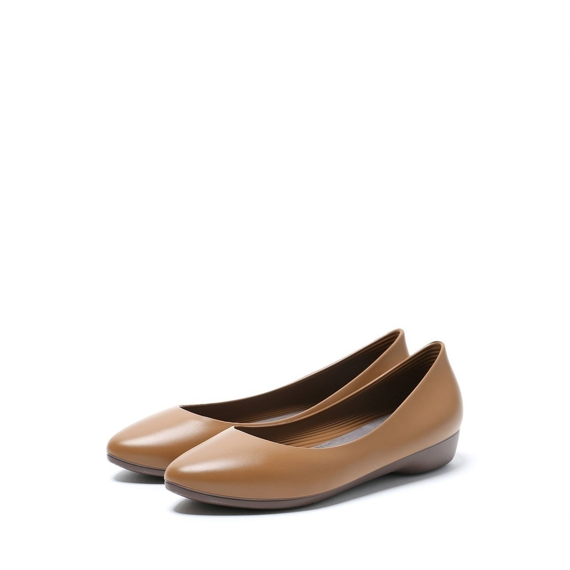 F3 Flat-Pointed Heel height 3cm Camel Brown