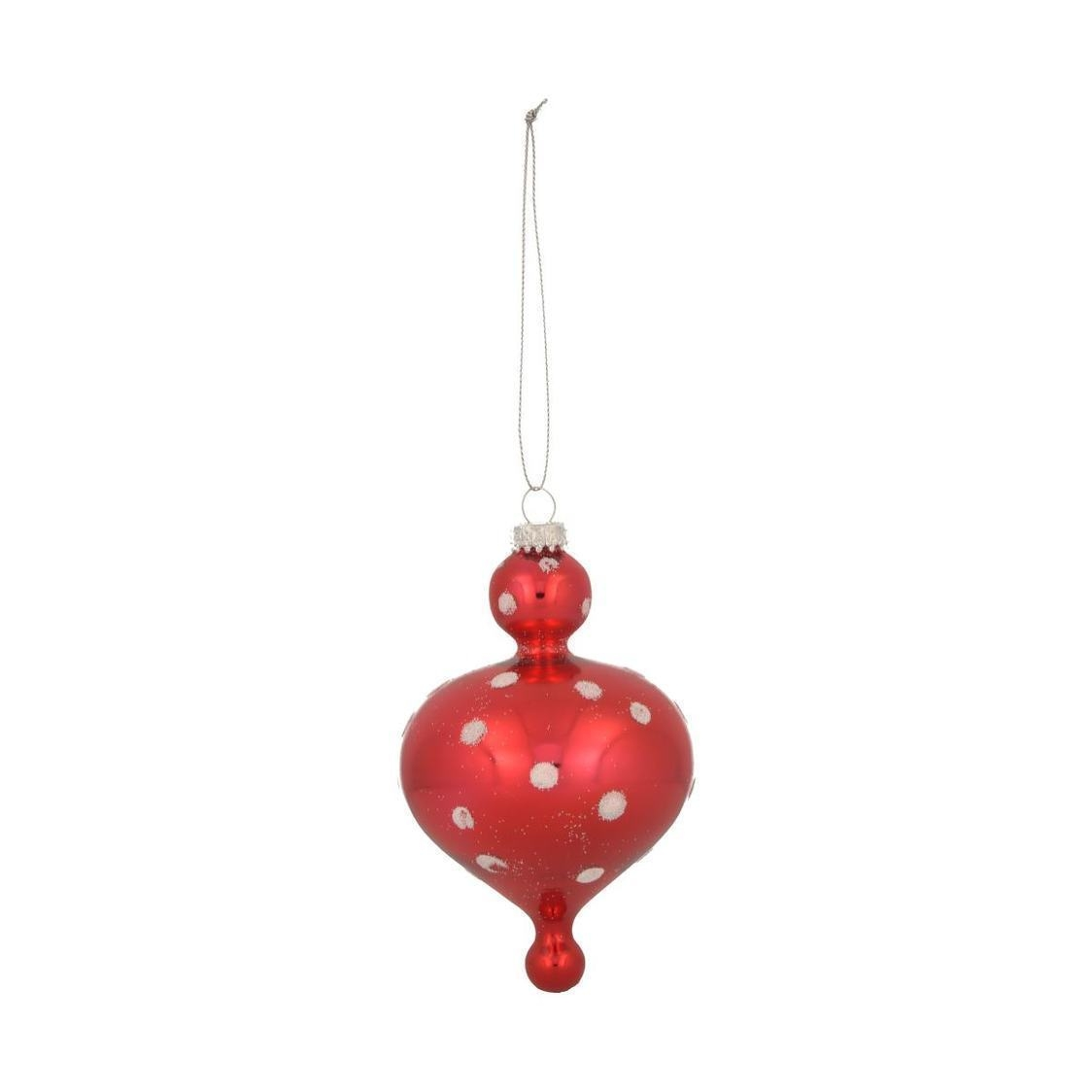 Glass Icicle Ornament Red
