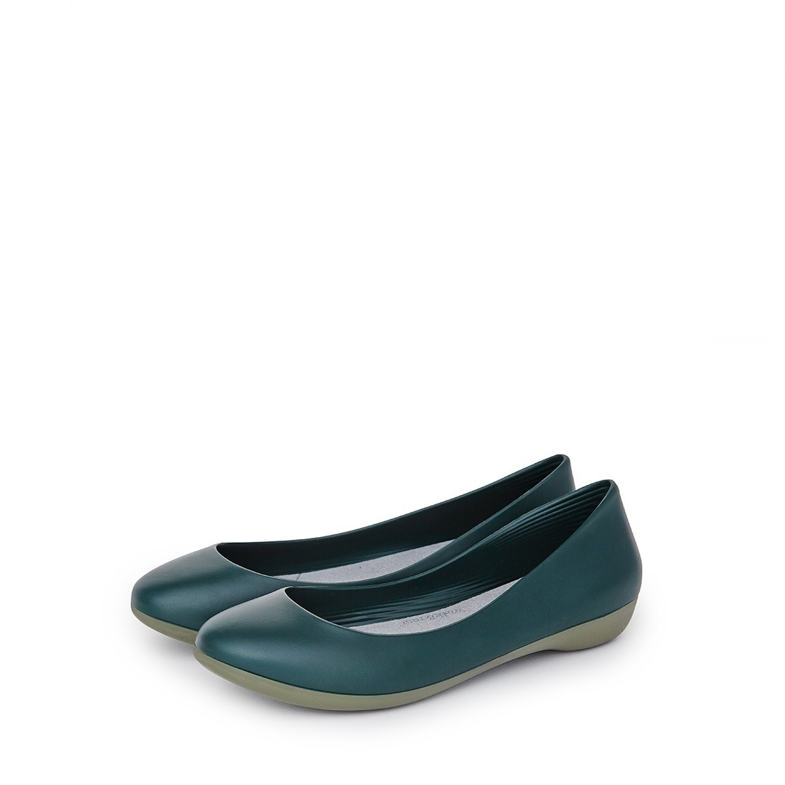 F2 Flat-Pointed Heel height 2cm Pine Green