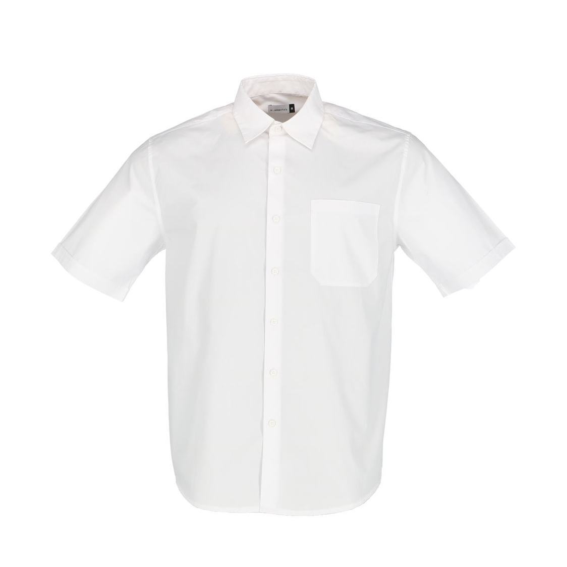 Mens Short Sleeve Shirt In Solid White