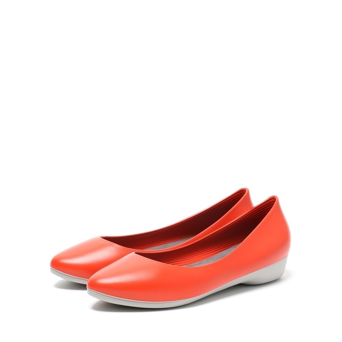 F3 Flat-Pointed Heel height 3cm Coral Red