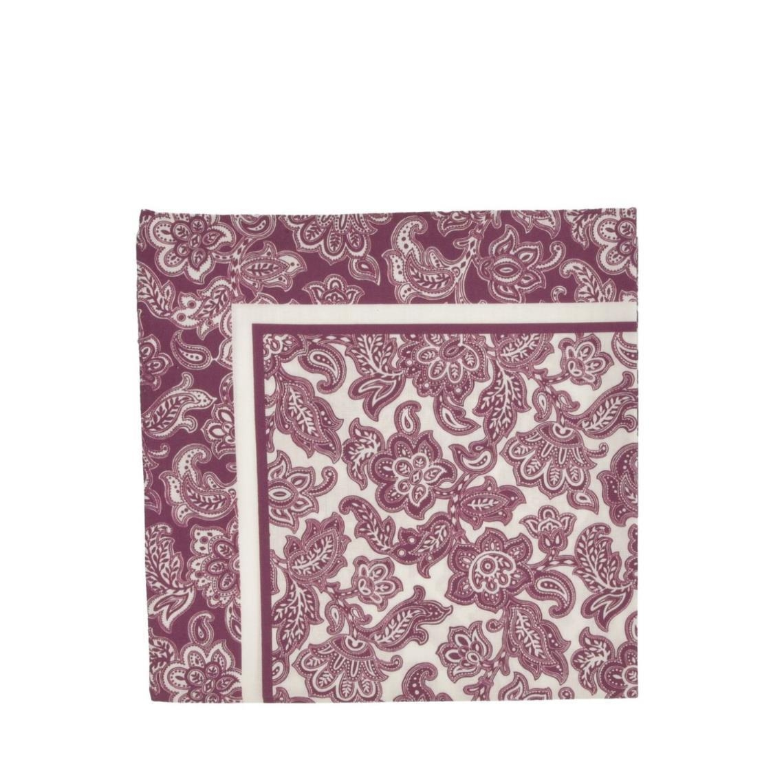 Italian Pocket Square Red Oriential