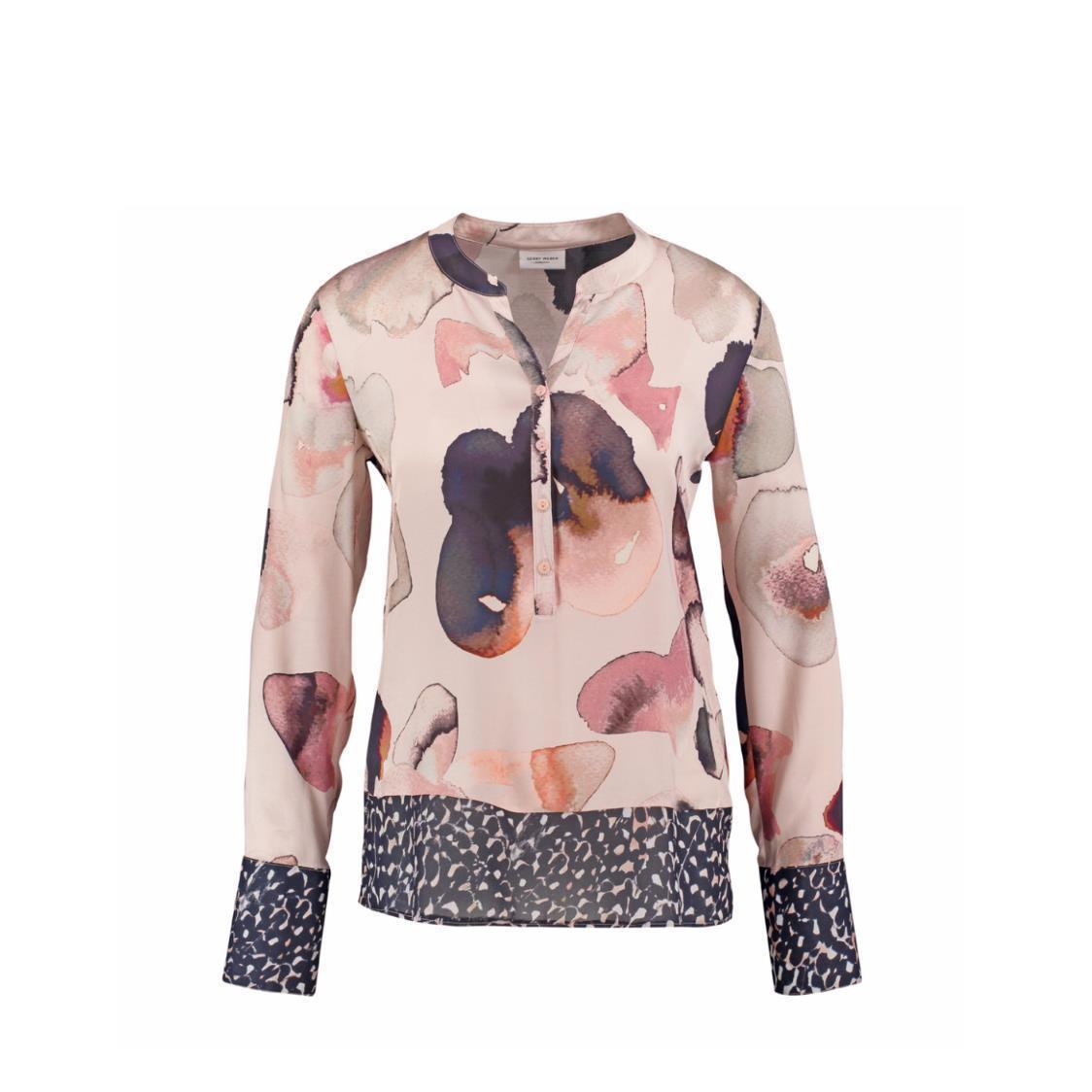 Printed button-down Top