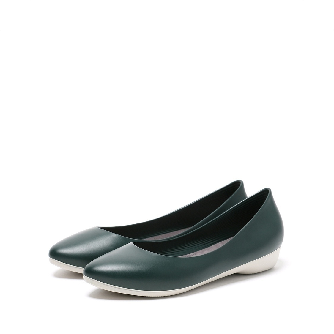 F3 Flat-Pointed Heel height 3cm Pine Green