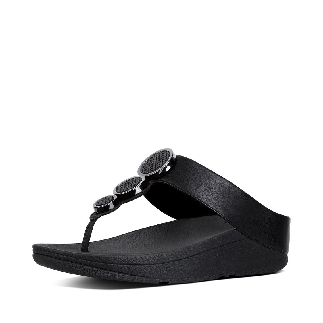 Halo Leather Toe-Thong Sandals