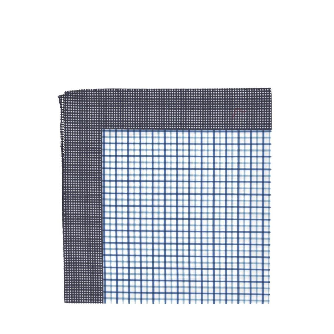 Italian Pocket Square Navy Checked