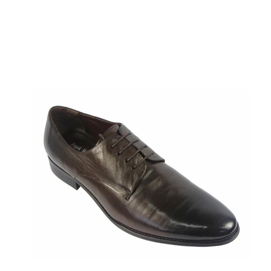 Men Oxford Lace Up Shoes in Coffee