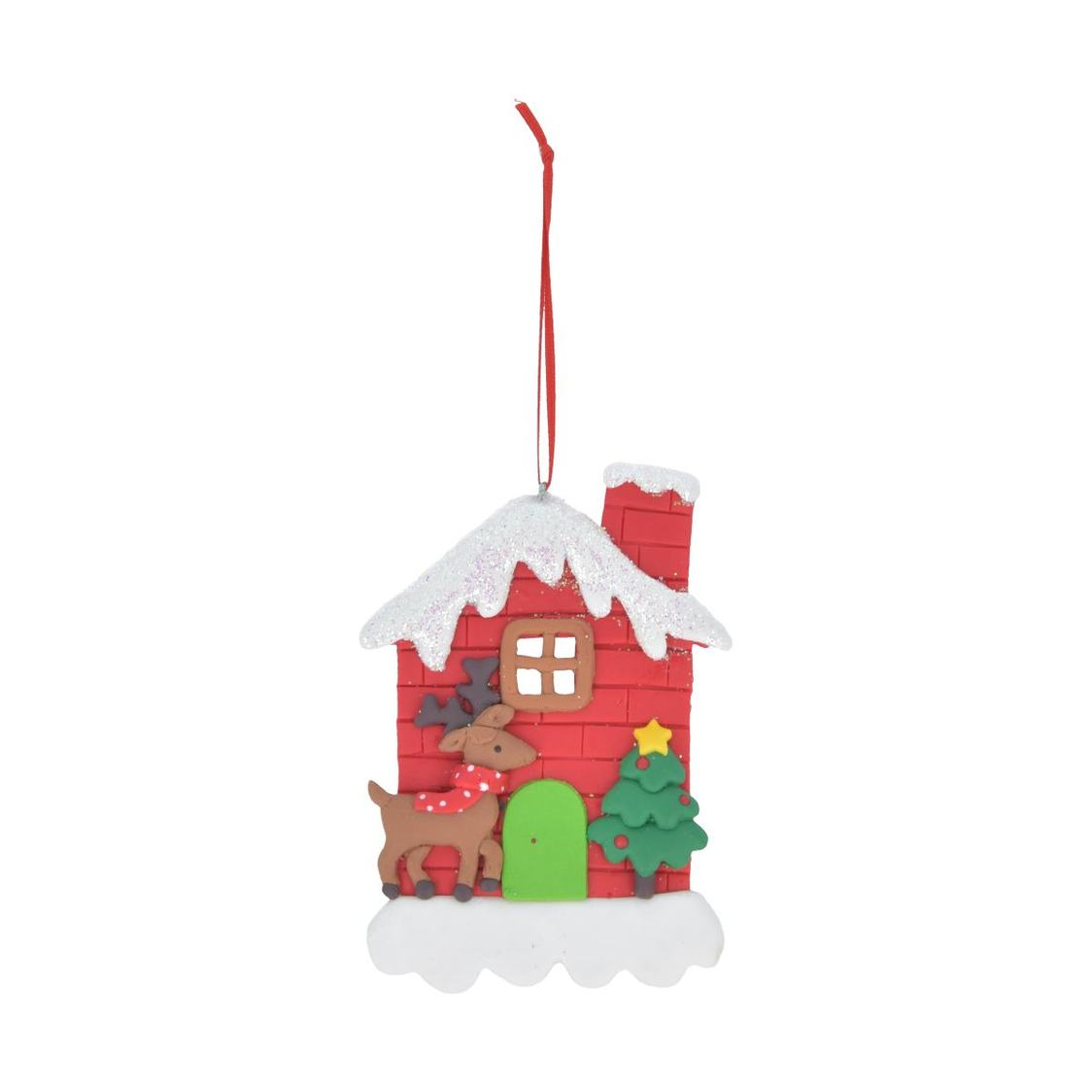 Bread Dough House Ornament Red