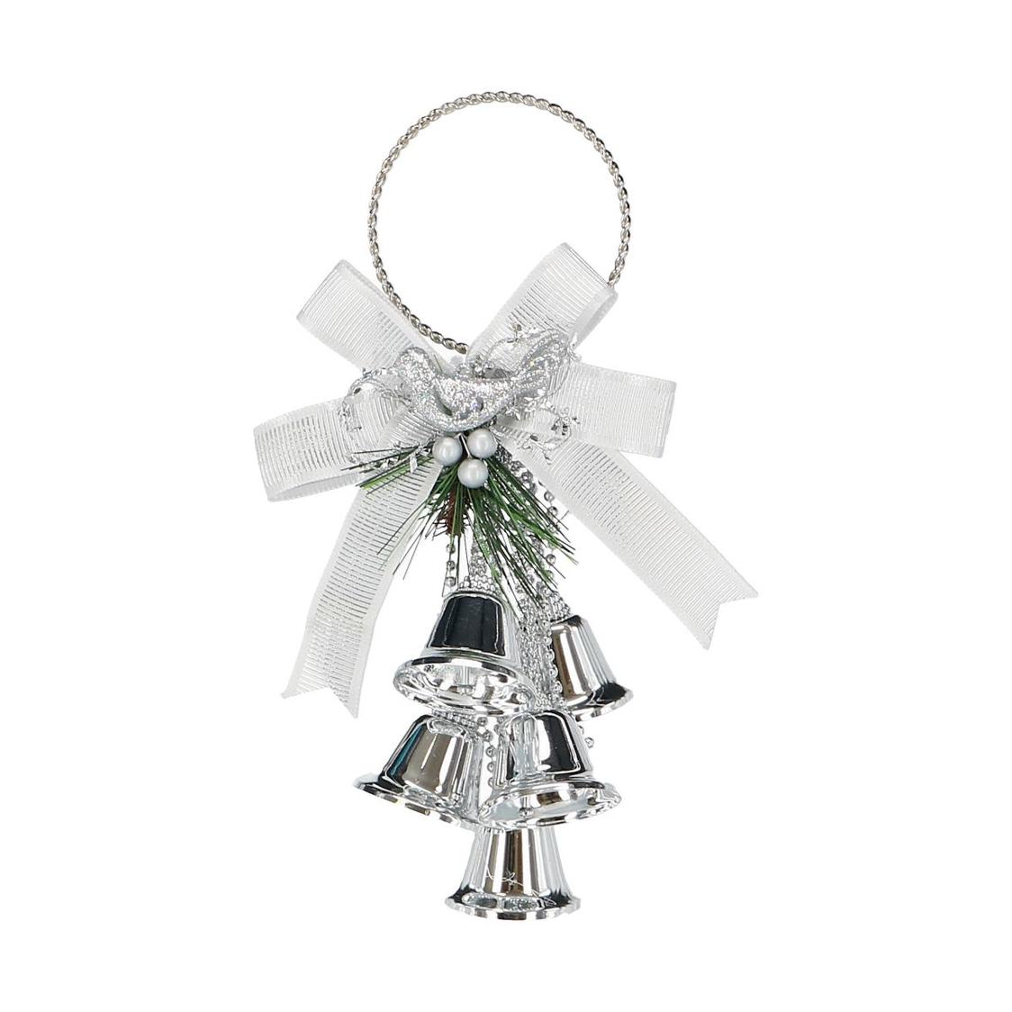 Jingle Bell Cluster Door Hanger Silver