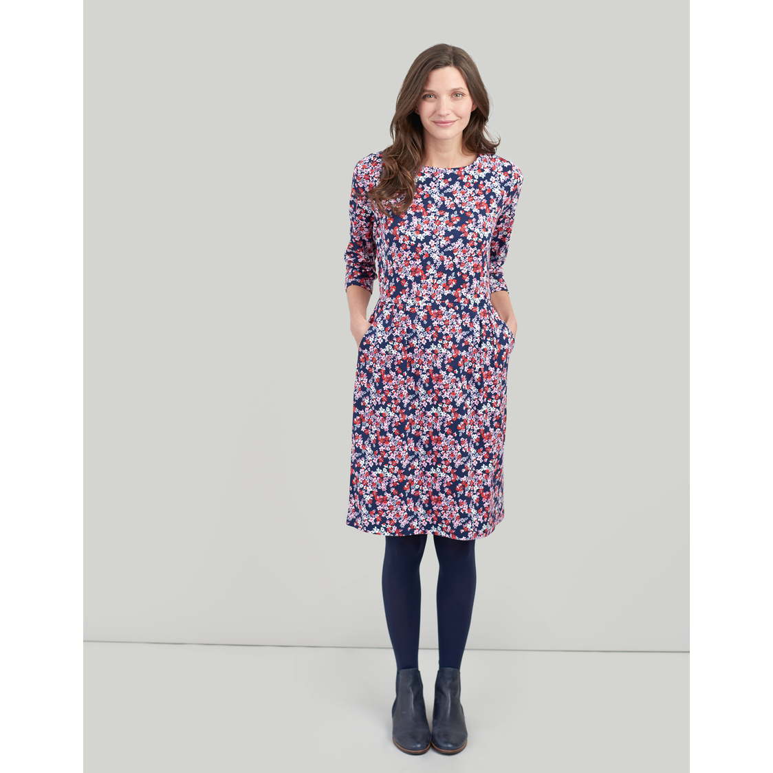 Beth Jersey Dress with 34 Length Sleeves