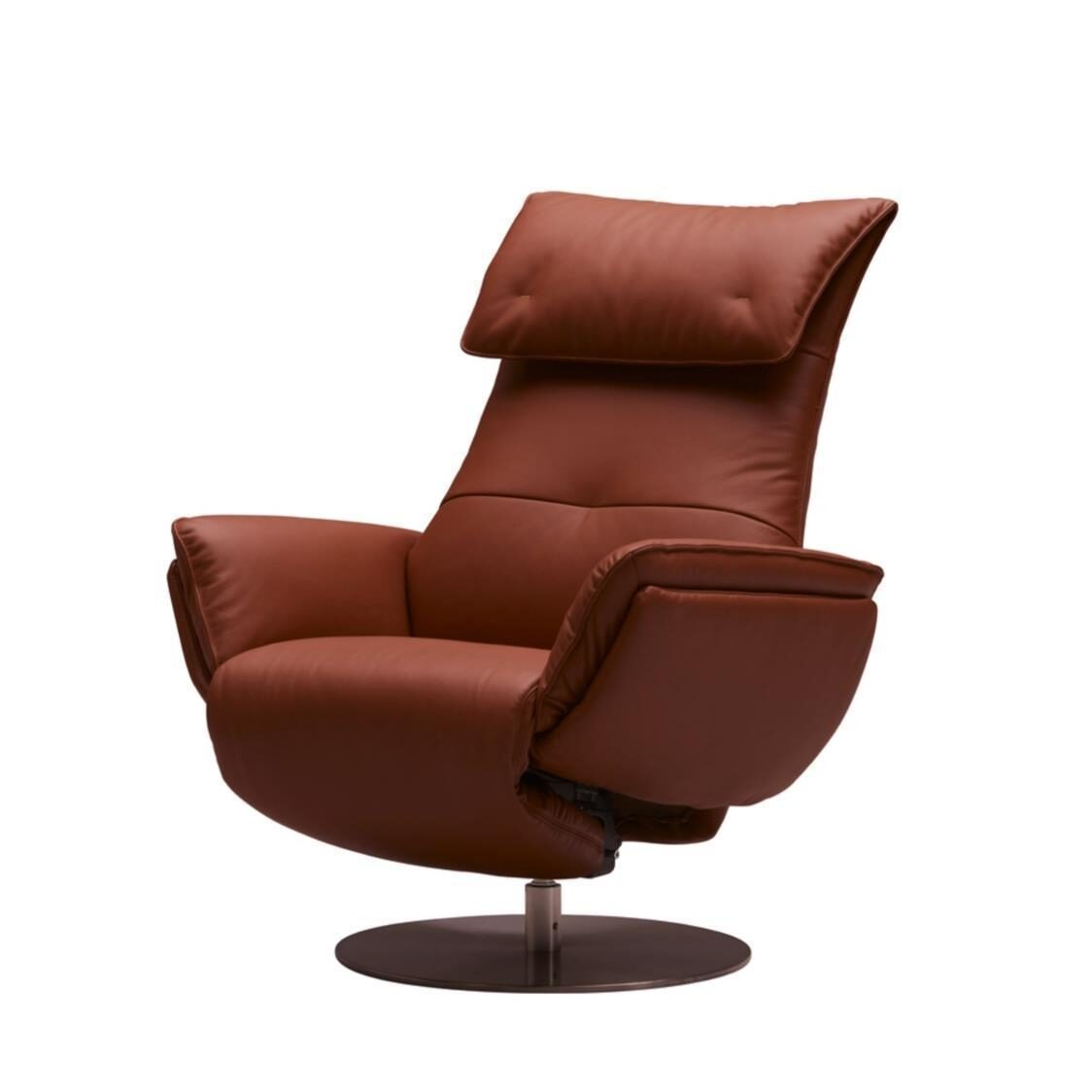 Wolke Chair - Half Leather L663A Terra Cotta