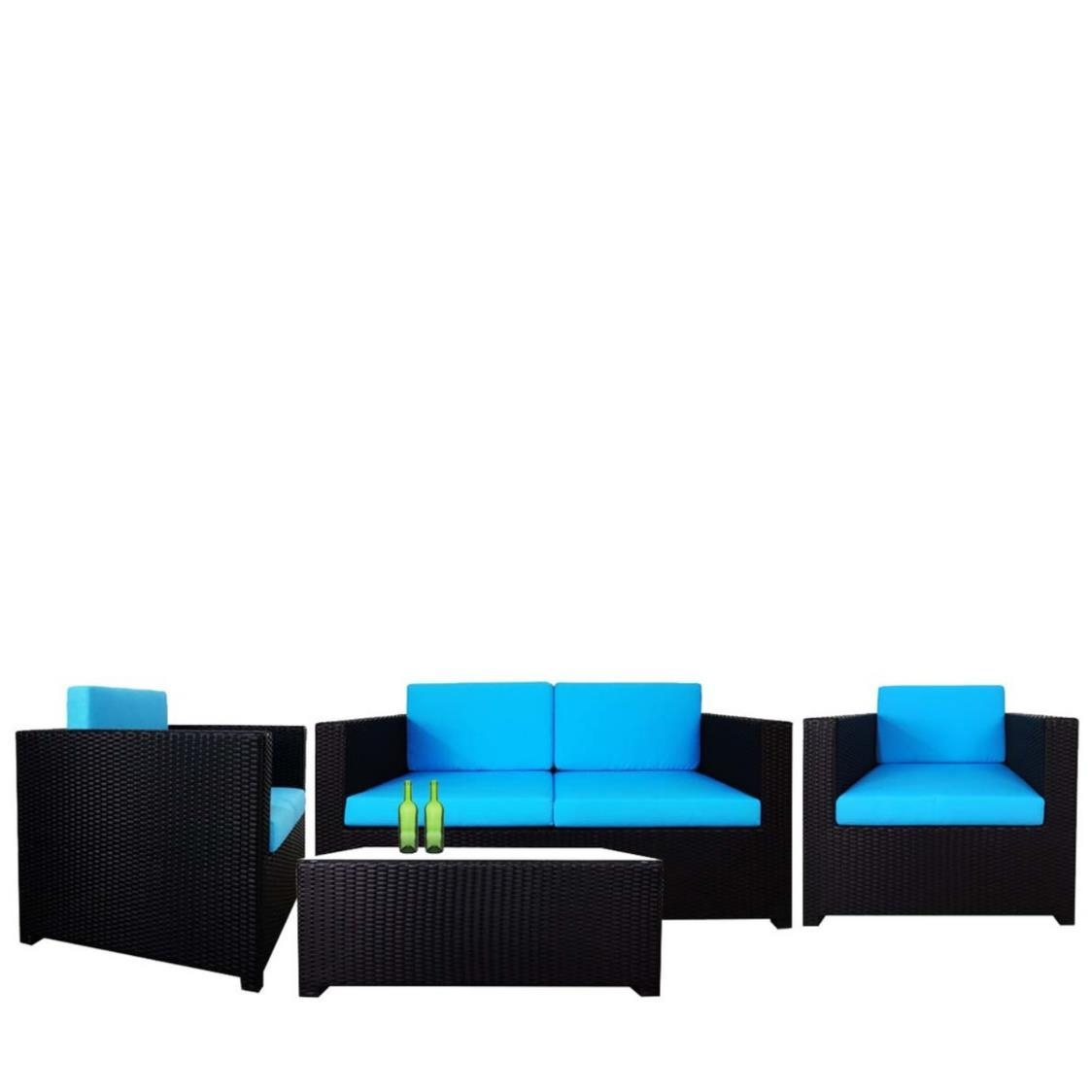 Fiesta Sofa Set II Blue Cushions