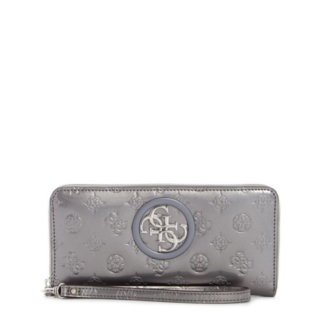 Open Road Small Leather Goods Large Zip Around Pewter