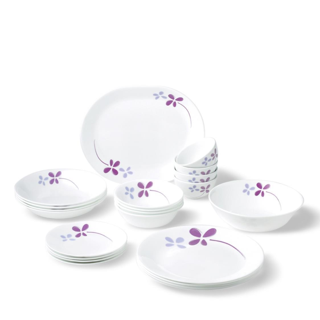 26pc Dinner Warm Pansies Set