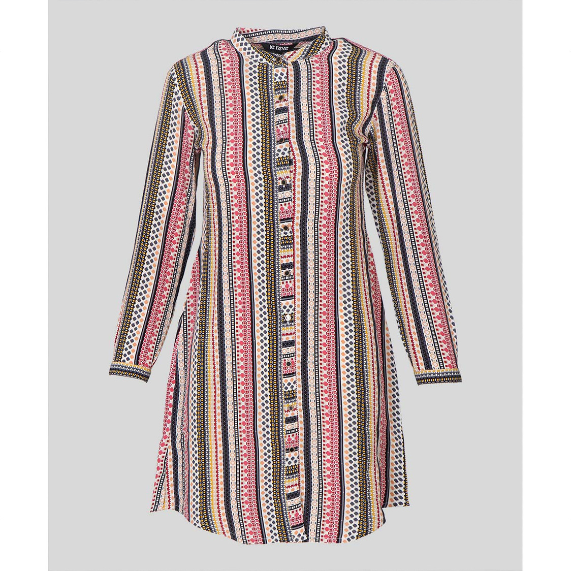 Multi Color Shirt Style Tunic