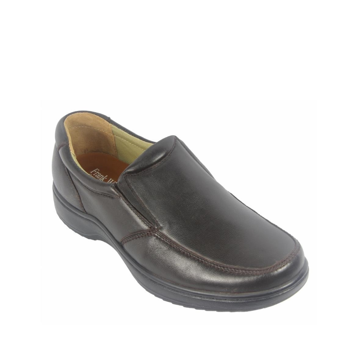 Men Casual Slip-Ons in Coffee
