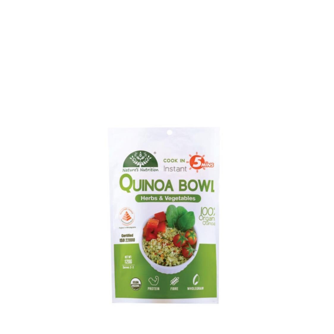 Natures Nutrition Herbs  Vegetables Quinoa Bowl 120g