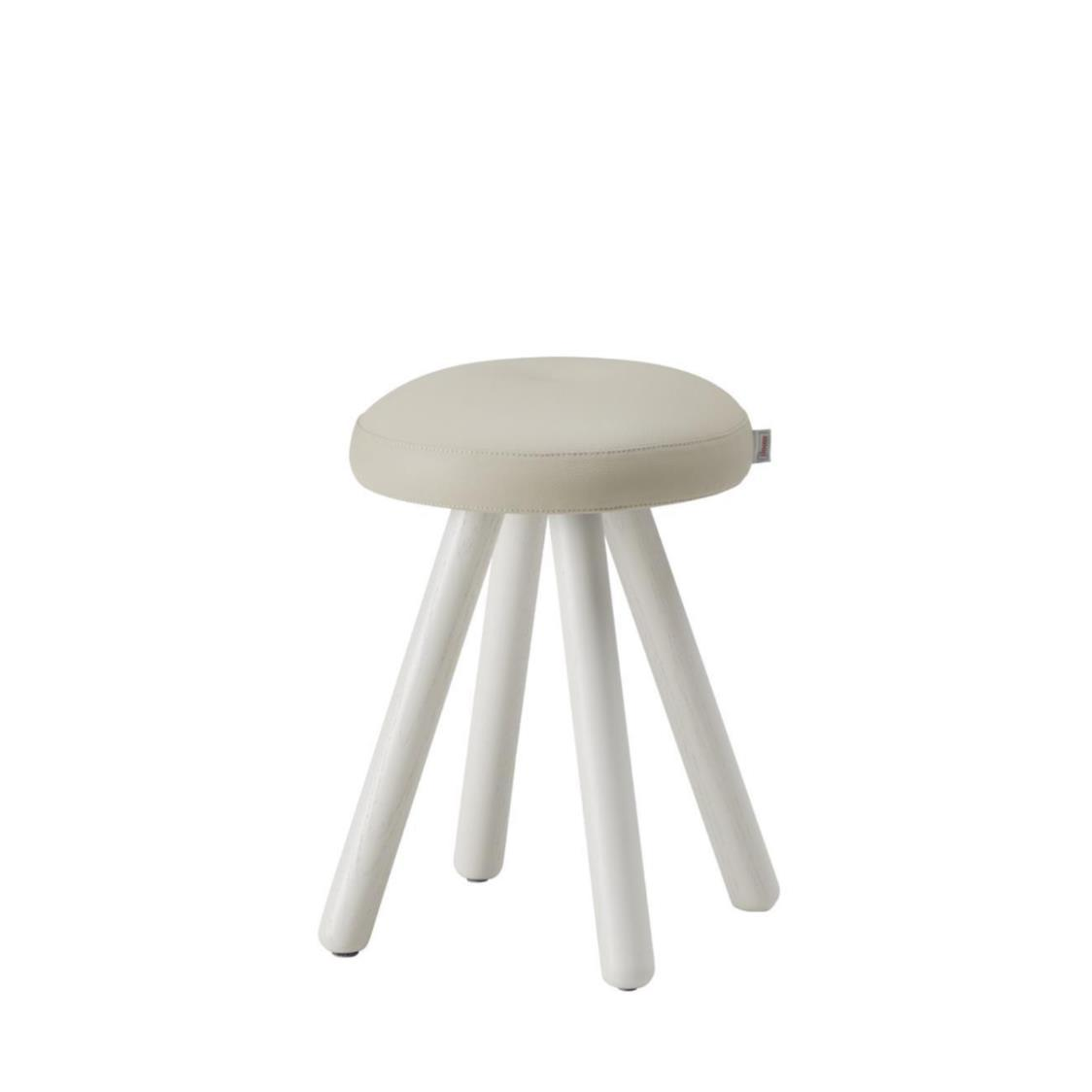 iloom Miel Gallery Wooden Round Stool IVLBG