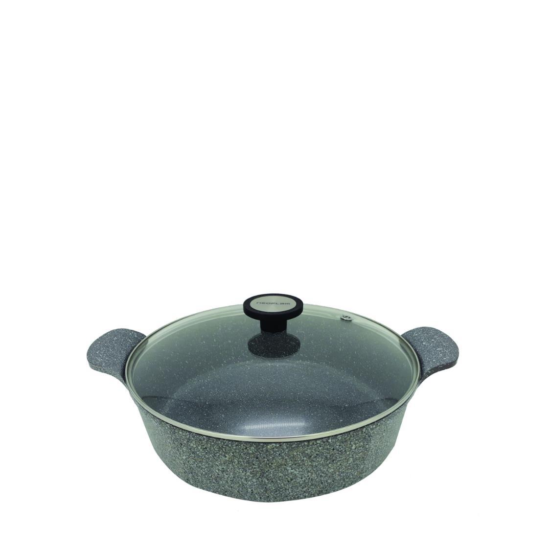 Low Casserole with Silicone Rim Glass lid 32cm
