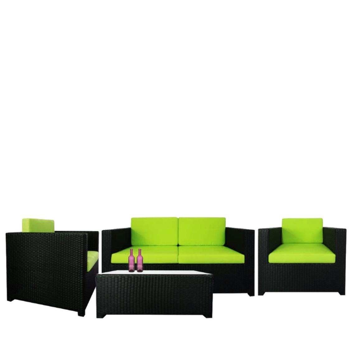 Fiesta Sofa Set II Green Cushions