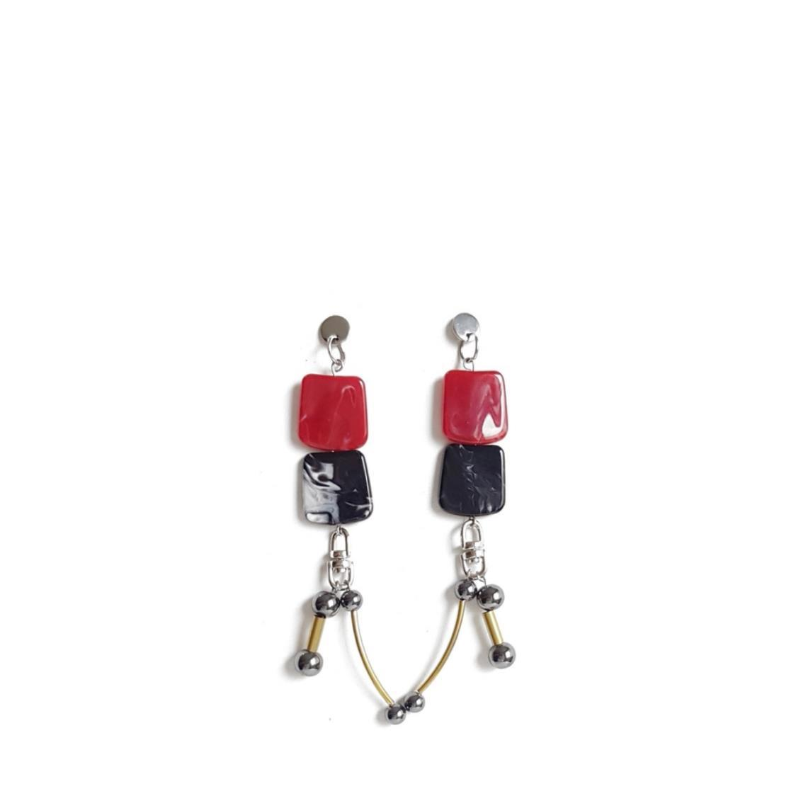 HARA Earrings RED