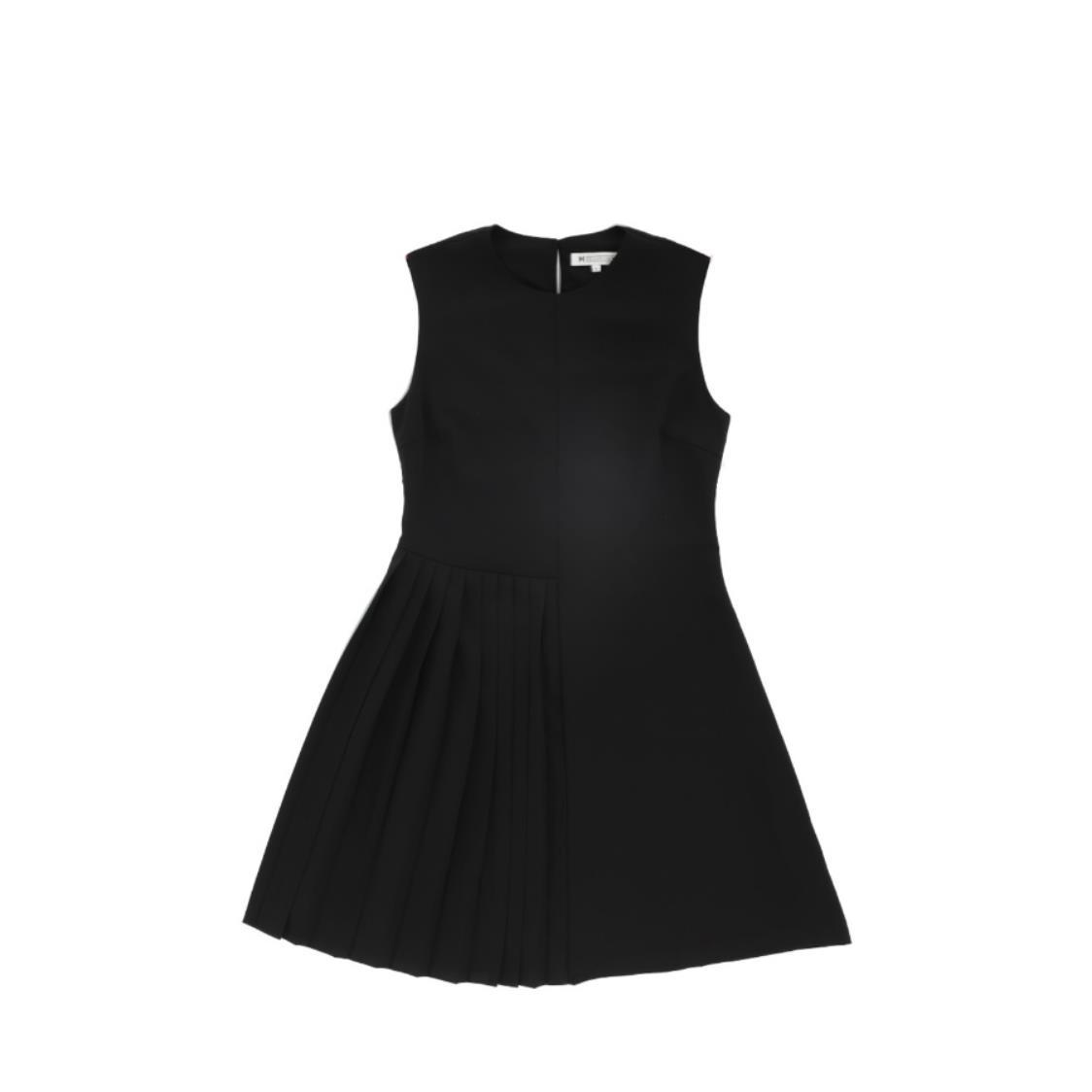Pleated Detail Dress Black