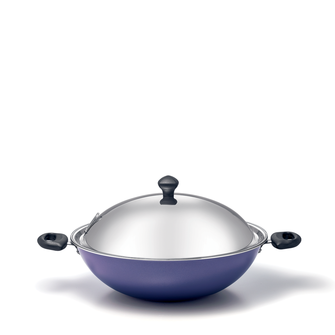 Meyer Purple 34cm Chinese Wok with Induction Base