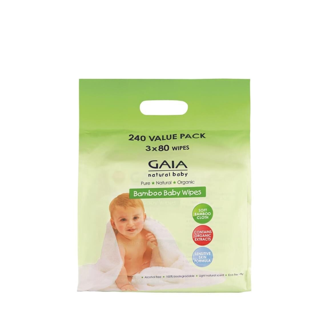 GAIA Bamboo Baby Wipes 240s