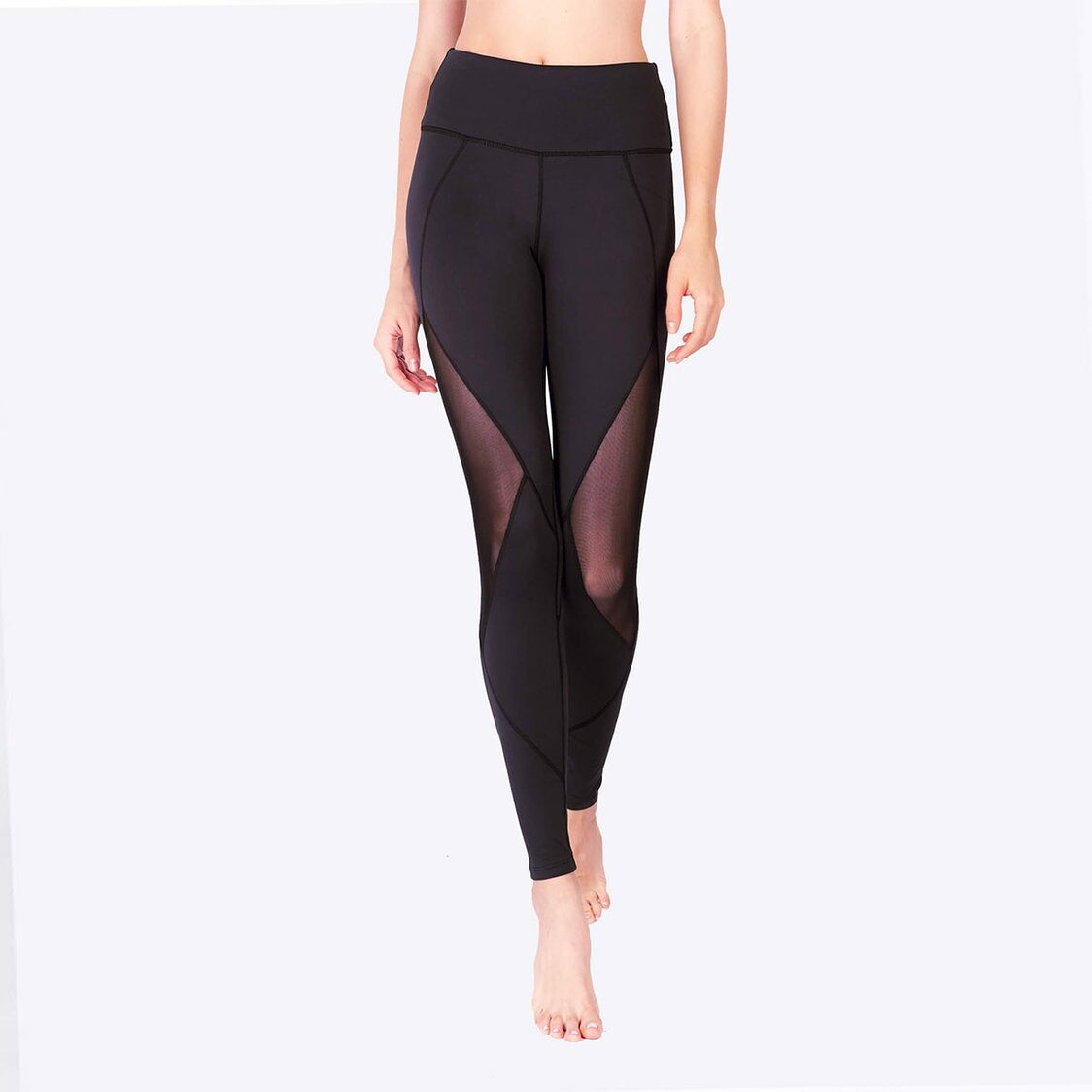 LIMITLESS Diamond Mesh Leggings with Keeperband in Black