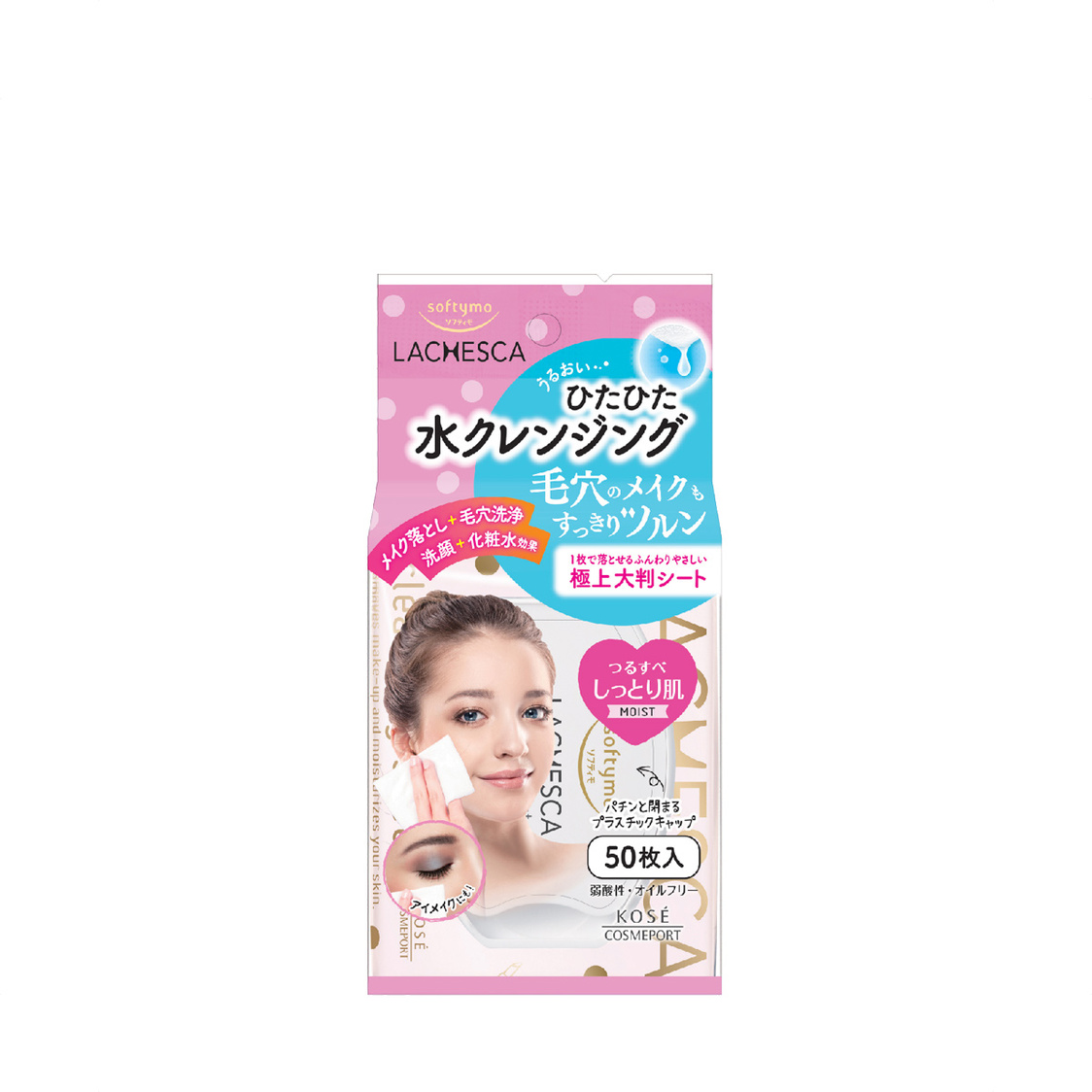 Kose Cosmeport Softymo Lachesca Cleansing Sheet Moist 50s