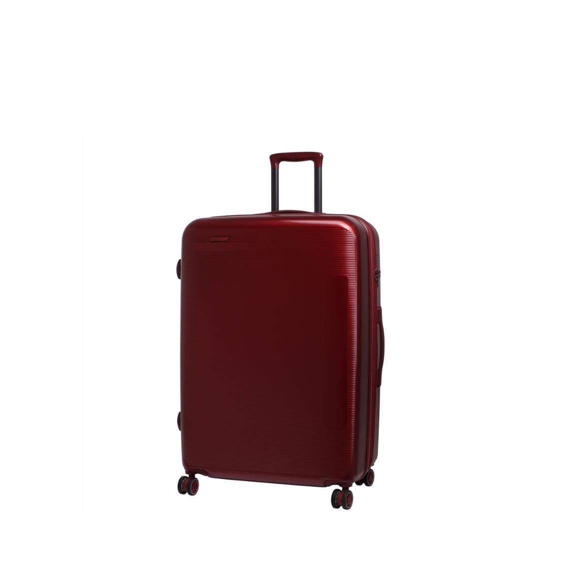 Autograph 4 Wheels Hard Case Luggage in Red