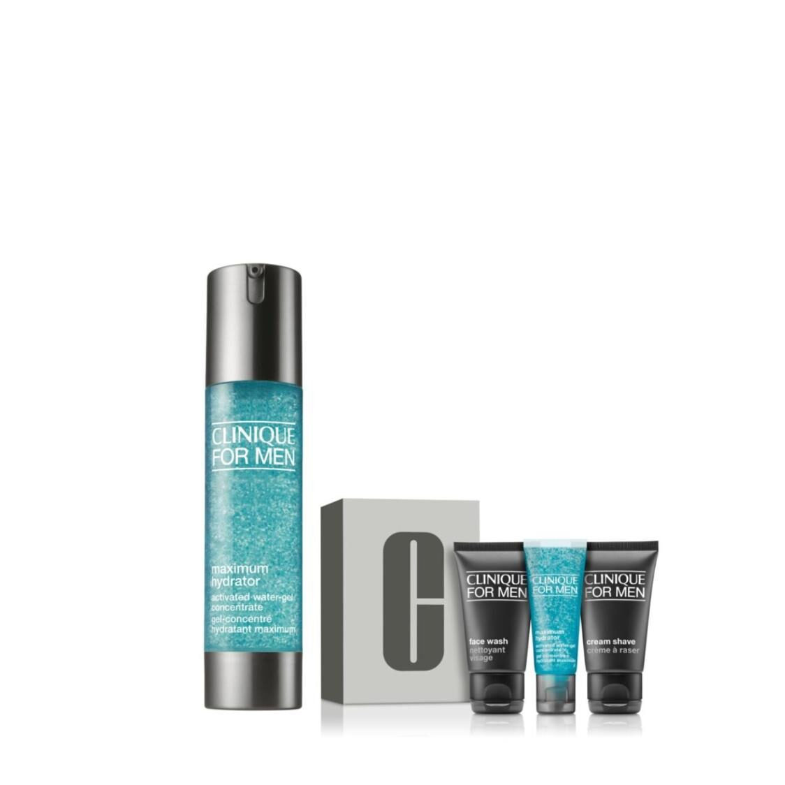 Clinique For Men Maximum Hydrator Activated Water Gel Concentrate 48ml Set Worth 125