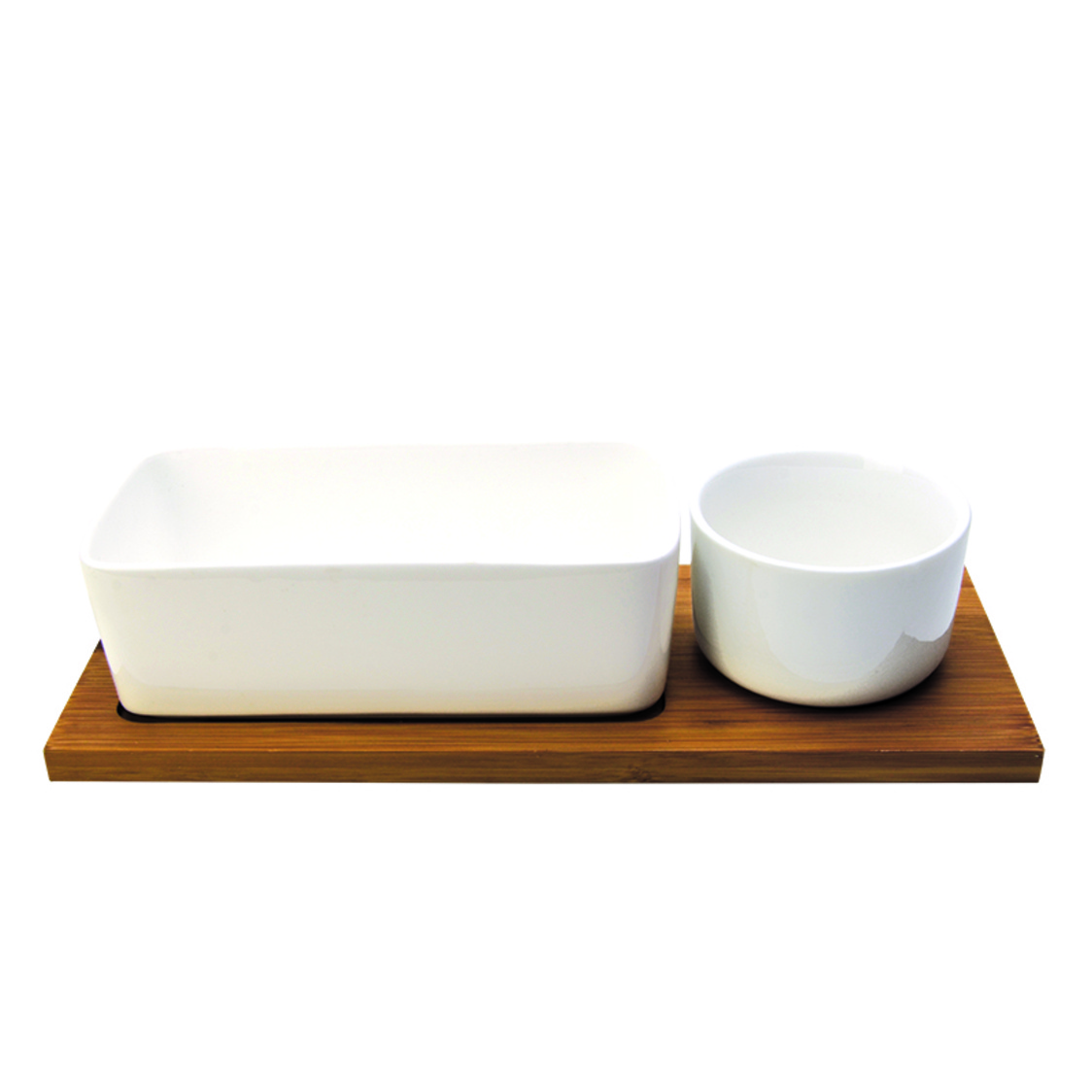 Touche 2 Condiment Bowls On Bamboo Base SR-54