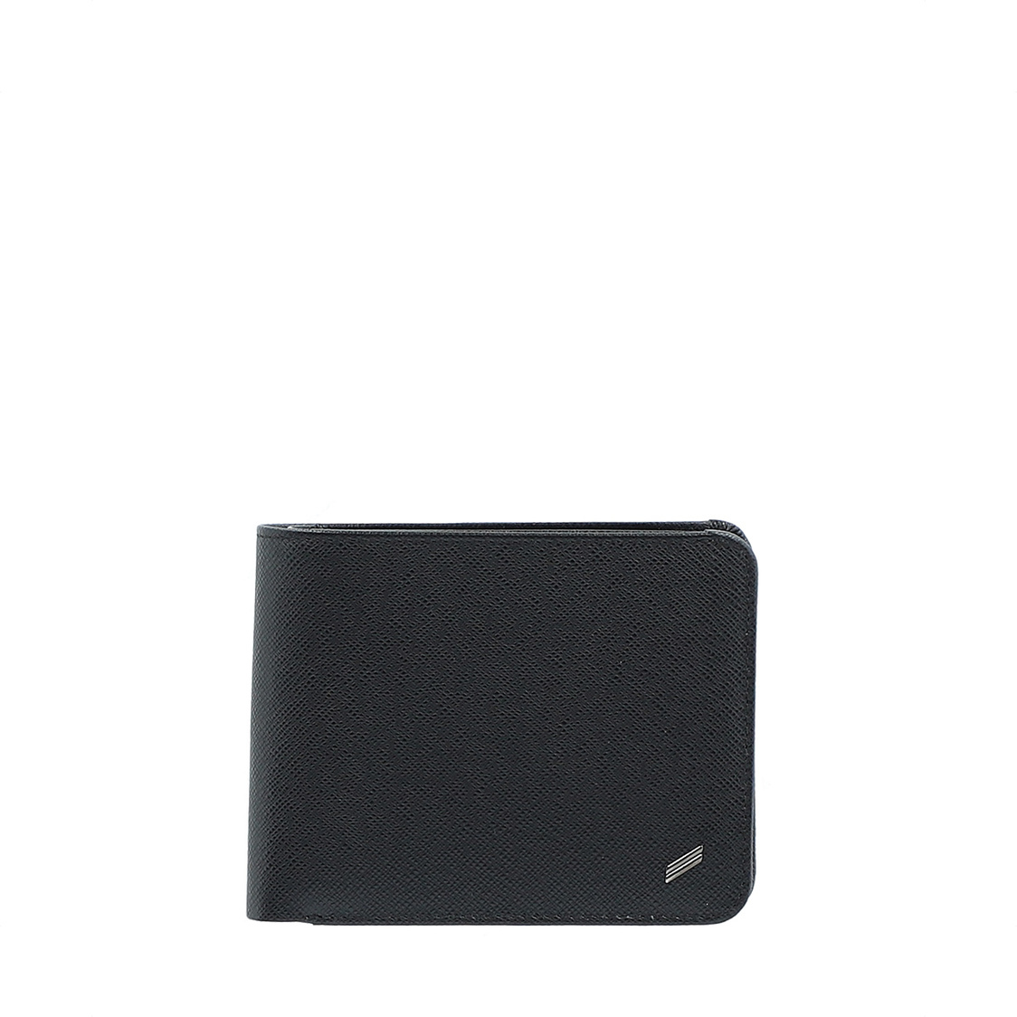 3-Fold Leather Wallet in Black