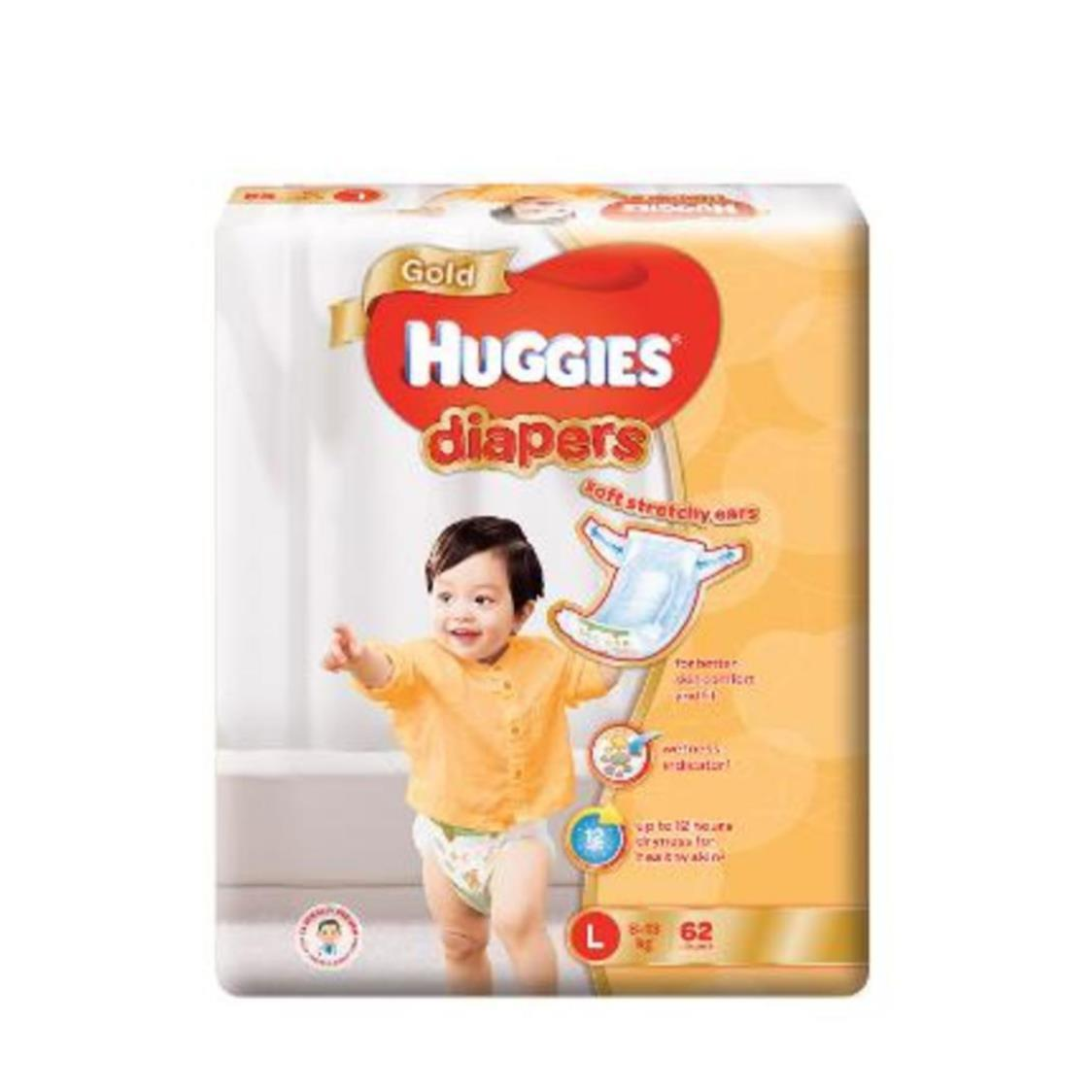 Huggies Gold L 62s