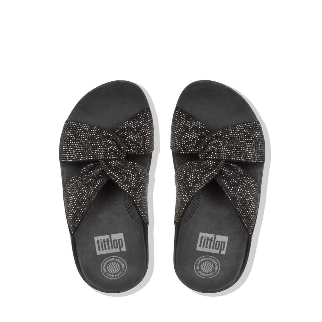 Twiss Crystal Slide Black