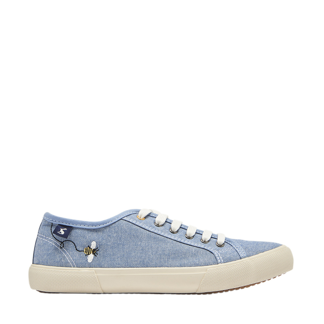 Coast Pump Canvas Lace Up Trainers Chambray