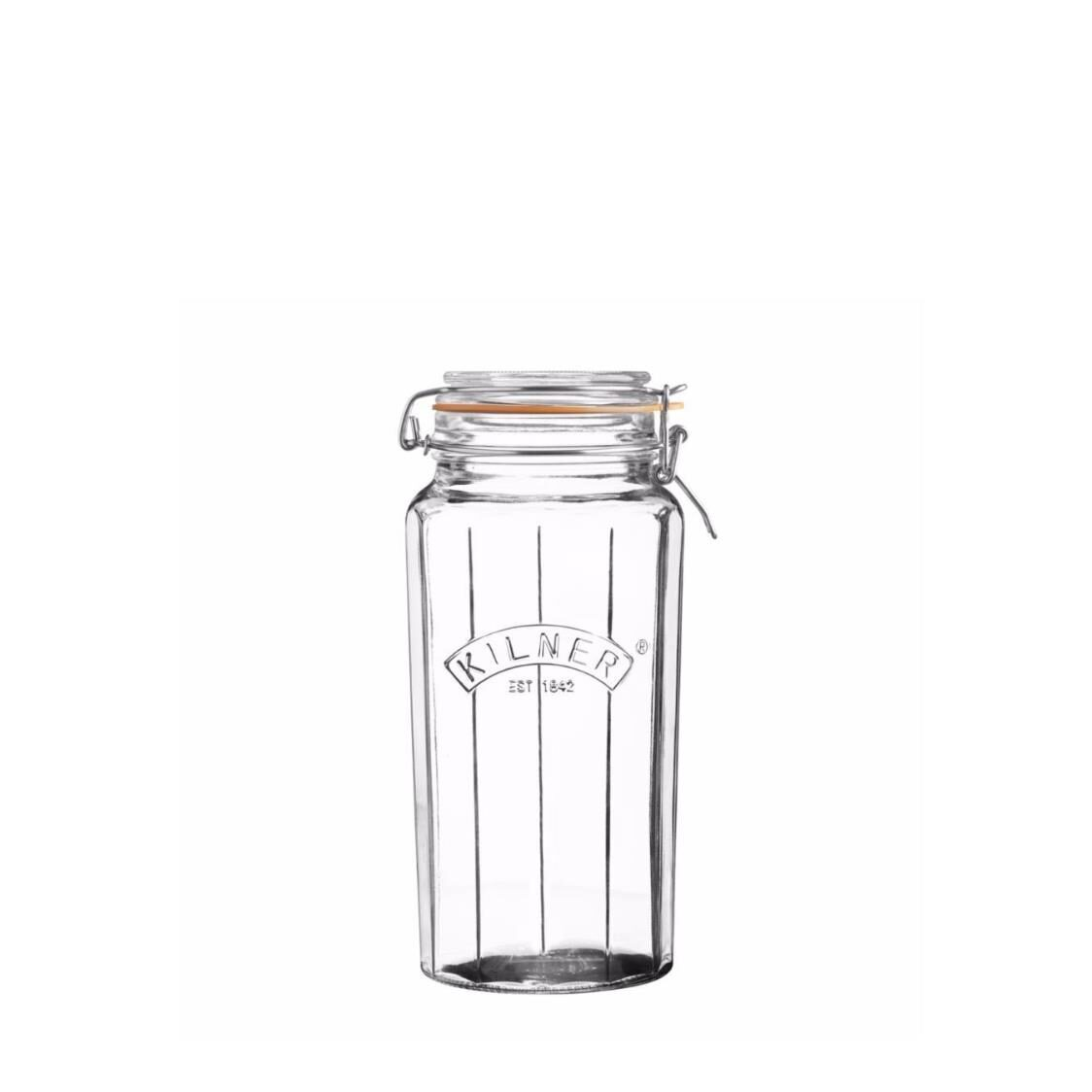 Clip Top Facetted Jar