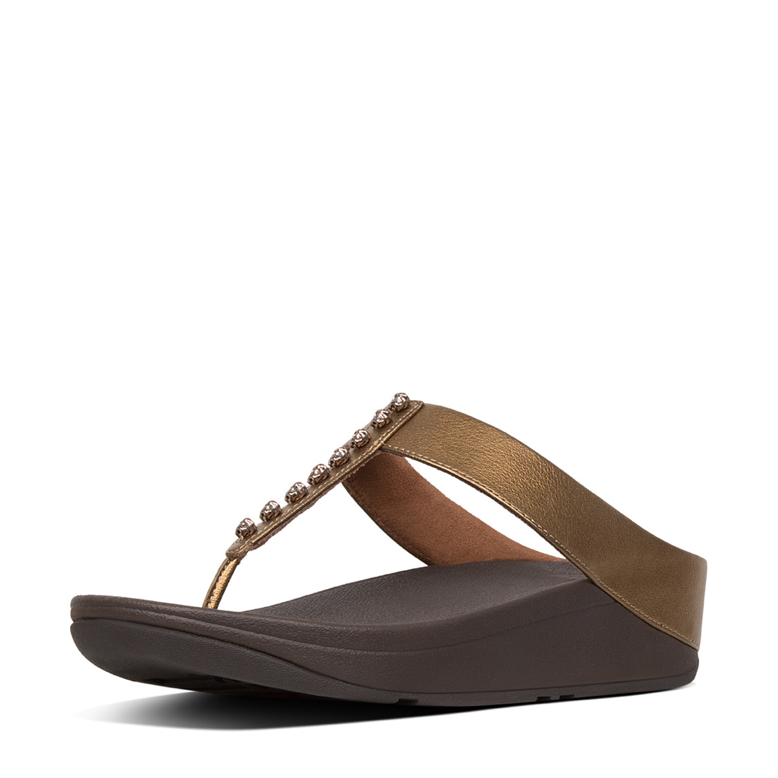 Fino Treasure Toe-Thong Sandals Bronze